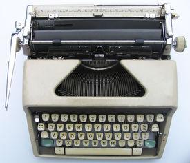 Old Typewriter - Top View
