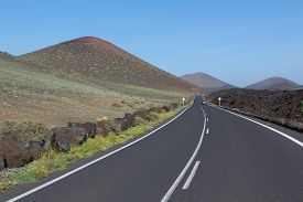 Landscape Of The Lanzarote Island Spain Europe