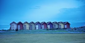 Beach Huts in  Pastels