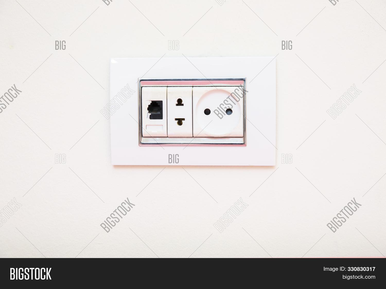 Socket On Light Gray Image Photo Free Trial Bigstock