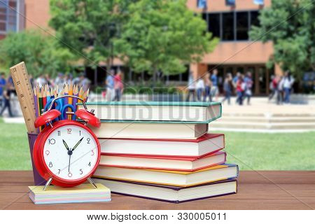 Back To School And Education Concept With Books