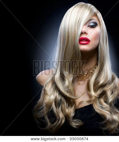 Blond Fashion Girl Portrait