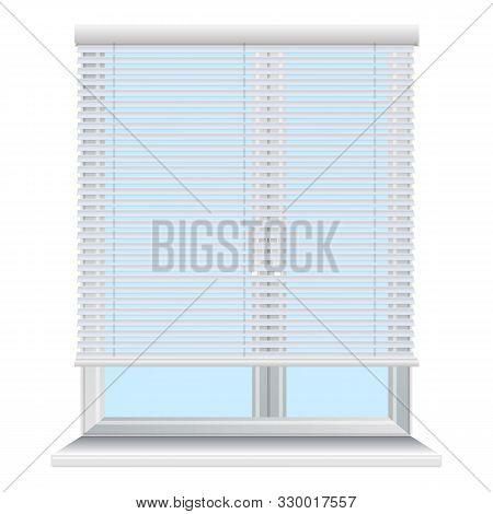 Metal Window Jalousie Icon. Cartoon Of Metal Window Jalousie Vector Icon For Web Design Isolated On