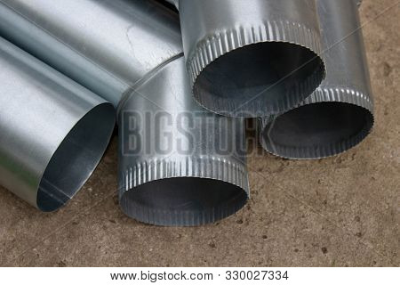 downspout pipe elbow, new galvanized drainage pipes for the roof house poster