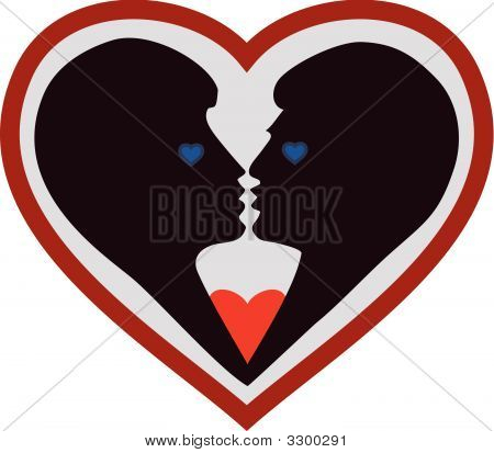 Young Couple In Heart