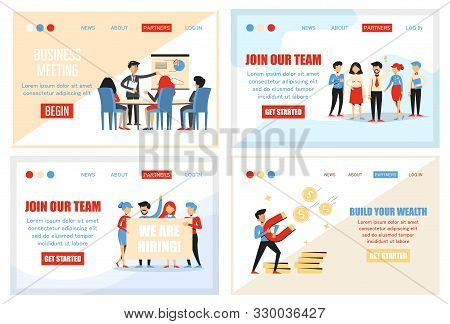 Collection Of Business Banner For Website. Web Page Design