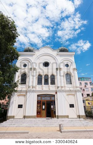 Burgas, Bulgaria - June 22, 2019: Synagogue Designed In 1909 By The Architect Toscani For The Jewish