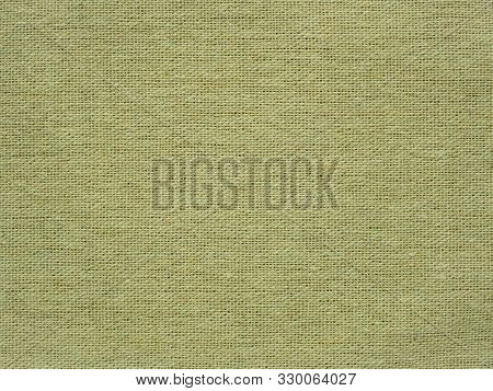 Close-up Of Hessian Sackcloth Woven Vintage Style Material Texture Pattern Background In Beige Color