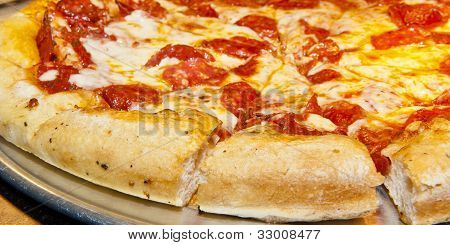 Hot Pizza Ready To Serve