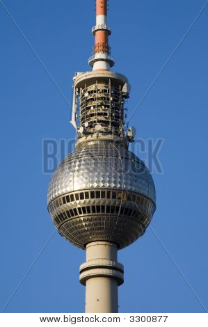 Section Of The Television Tower In Berlin