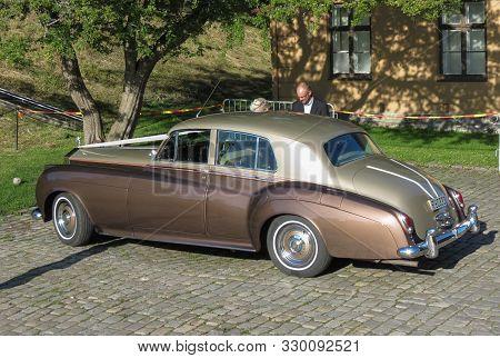 Oslo, Norway - Circa August 2017: Brown Bentley Saloon Car