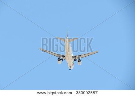 Lisbon, Portugal - Circa June 2015: Tap Air Portugal Airbus A319 Flying