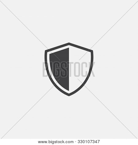 Shield, Guard Icon Vector, Shield Linear Logo Illustration, Shield Line Icon In Trendy Style, Shield