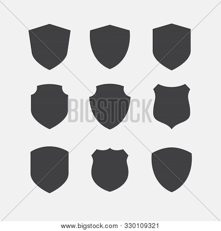 Simple Security Icon Set, Shield Icon Set, Vector Simple Shield Icon Set, Filled Flat Sign, Protecti