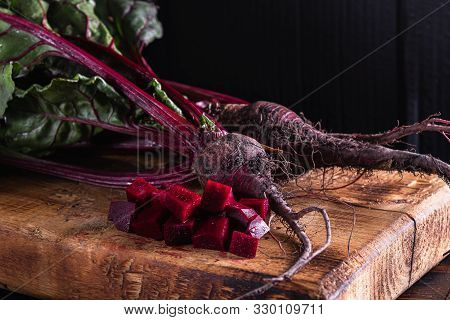 Sliced Beets With Leaves