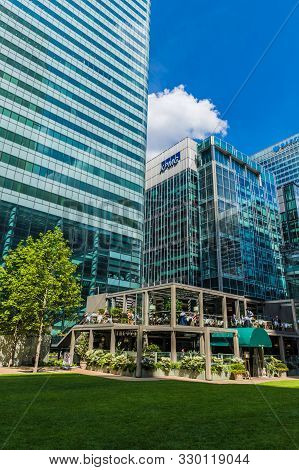 Canary Wharf London. 23 May 2019. A View Of The Kpmg Offices In Canary Wharf In London