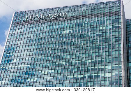 Canary Wharf London. 23 May 2019. A View Of The Jp Morgan Offices In Canary Wharf In London