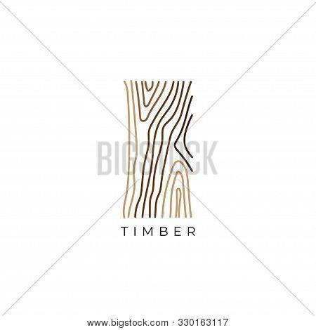 Wood Grain Logo Design Concept.creative Timber Texture