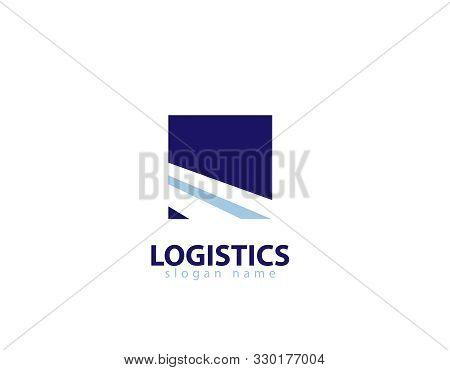 Logitics Road Logo - White Background Illustartion Design