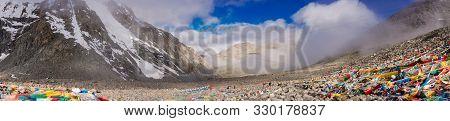 Panoramic View Of Mountain Lanscape In Himalaya, Tibet