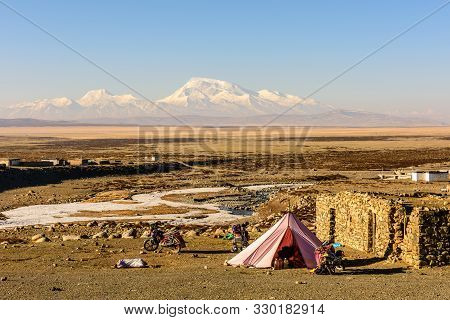View From The Tibetan Plateau To Mount Gurla-mandhata