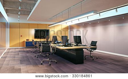 Modern Office Interior Image Photo Free Trial Bigstock