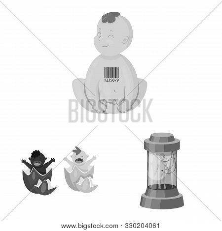 Isolated Object Of Transgenic And Organic Symbol. Set Of Transgenic And Synthetic Stock Vector Illus