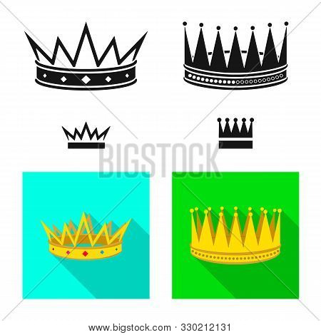 Vector Illustration Of Medieval And Nobility Symbol. Set Of Medieval And Monarchy Stock Vector Illus