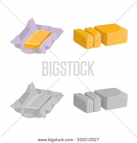 Isolated Object Of Creamy And Product Icon. Collection Of Creamy And Farm Stock Symbol For Web.