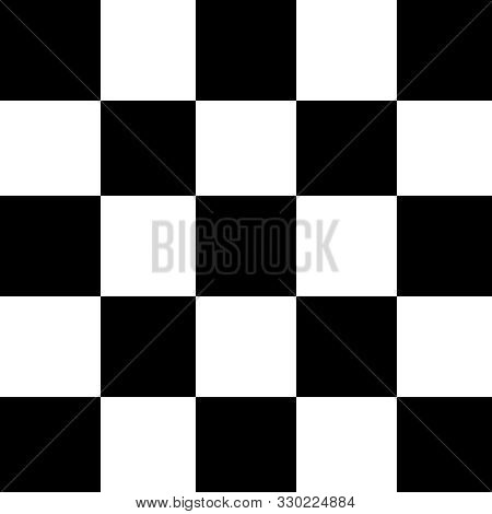 Square Black And White For Background, Seamless Checker White And Black Pattern, Chessboard Tiles Sq