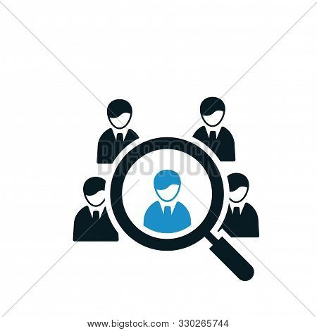 Employee Find Search Icon Design For Web
