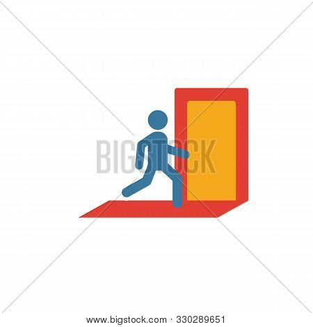 Exit Icon. Simple Flat Element From Fire Safety Collection. Creative Exit Icon For Templates, Softwa