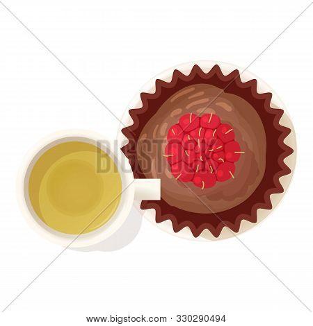 Chocolate Souffle Icon. Isometric Illustration Of Chocolate Souffle Vector Icon For Web
