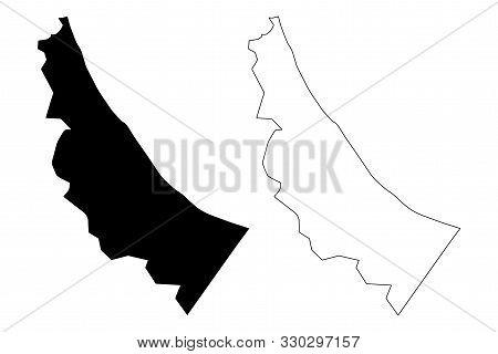 Al Batinah North Governorate (sultanate Of Oman, Governorates Of Oman) Map Vector Illustration, Scri