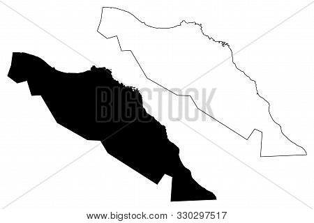 Muscat Governorate (sultanate Of Oman, Governorates Of Oman) Map Vector Illustration, Scribble Sketc