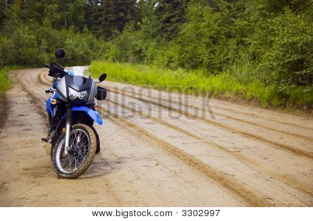 Motorcycle On Trail