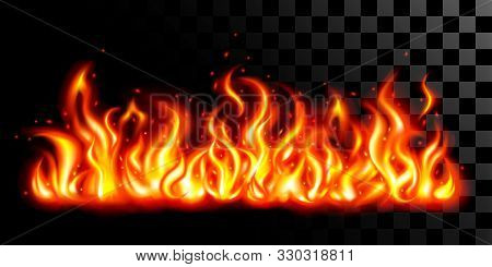 The Fire Flames Background On Black Transparent