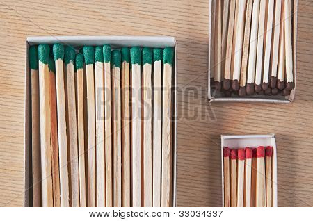 Matches Of Different Length And Thickness