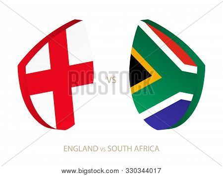England V South Africa, Icon For Rugby Tournament. Rugby Vector Icon.