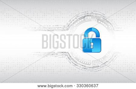 Cyber Security And Data Privacy Protection Vector Illustration. Internet Security Online Concept. Gl