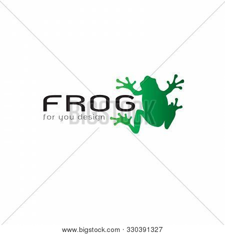 Vector Of Frog Design On White Background. Amphibian. Animal. Frog Logo Or Icon. Easy Editable Layer