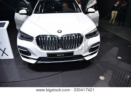Geneva, Switzerland - March 06, 2019: Bmw X5 Xdrive 45E - Geneva International Motor Show 2019