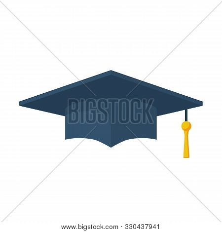 Education Icon For Web And Graphic. Graduation Cap. Academic Cap Flat Icon. Vector Illustration Cart