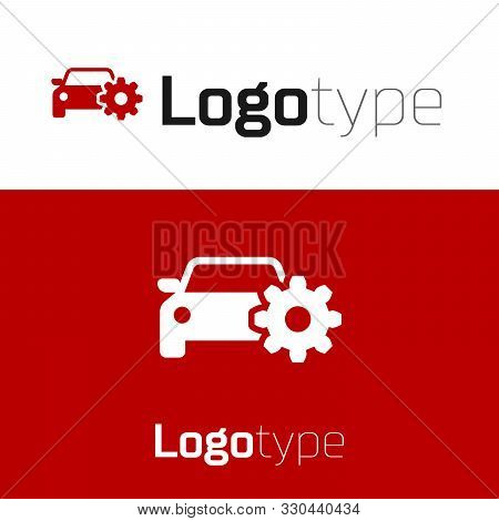 Red Car Service Icon Isolated On White Background. Auto Mechanic Service. Mechanic Service. Repair S