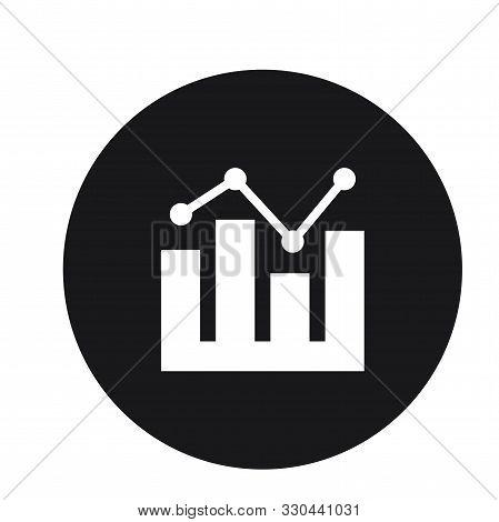 Graph Growth Statistics Icon Design For Web