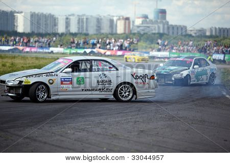 MOSCOW - JUNE 11: Racing car of M.Khondakaryan on the track in 3-d tour in summer cup of Megafon mitjet race at Moscow racetrack MegaFon Tushino Ring, June 11, 2011, Moscow, Russia.