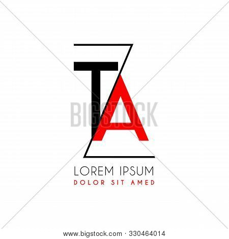 Ta Logo Letter Separated By A Black Zigzag Line