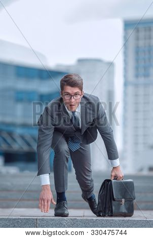 competitive business person is ready to start working.