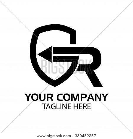 Gr Letters Initial Logo, Flat Design. Vector Illustration On White Background