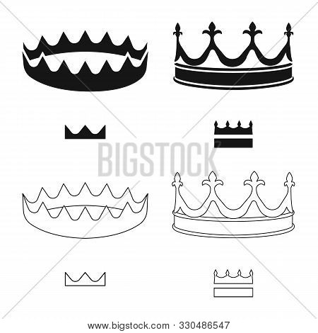 Isolated Object Of Medieval And Nobility Symbol. Collection Of Medieval And Monarchy Stock Vector Il